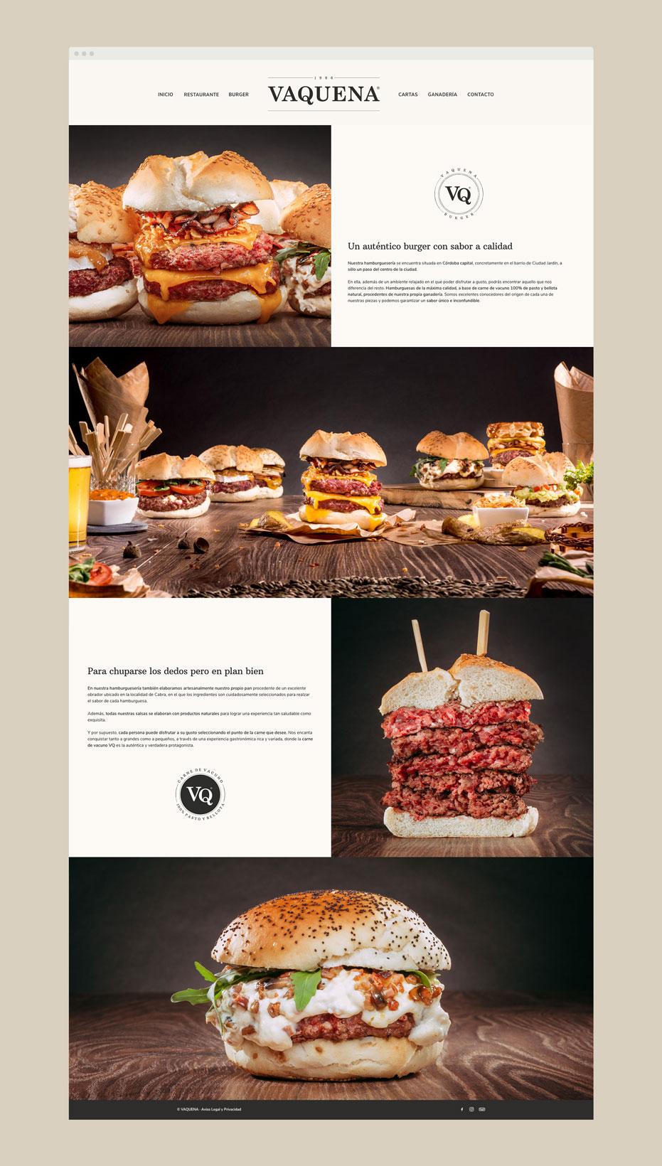 Diseño Web Vaquena Restaurante - www.vaquena.com - tabarestabares