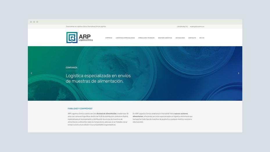 Diseño Web ARP Logística Clínica - www.logisticaclinica.com - tabarestabares